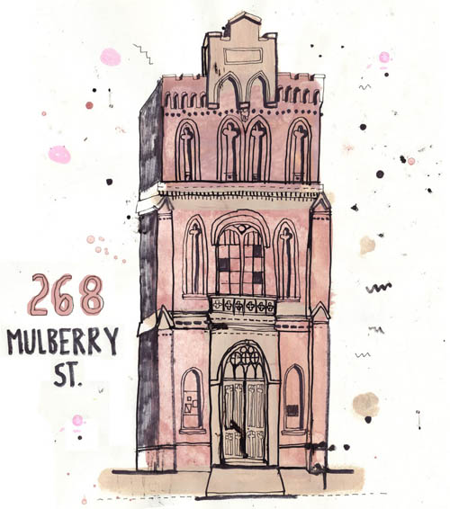 268 Mulberry St Illustration by James Gulliver Hancock